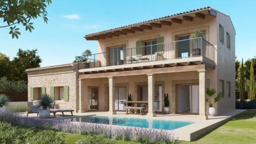 La villa 'Sol' en es Trenc tiene un diseño actual con elementos de estilo tradicional, pero la construcción y los equipos técnicos cumplen con las expectativas actuales de los clientes más exigentes.