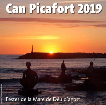 Cartel de las Festes de la Mare de Déu d'Agost en Can Picafort.