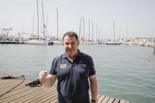 Martín Berasategui en el náutico de Palma.