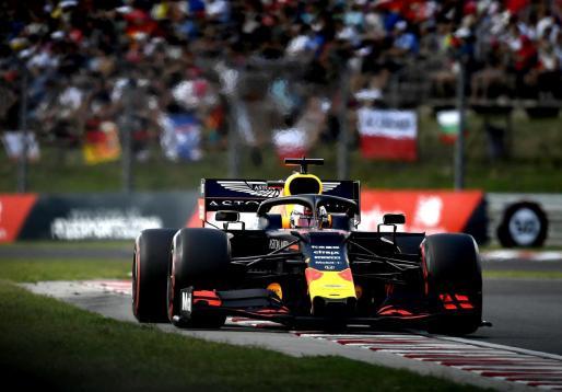 El holandés Max Verstappen, piloto de Red Bull, durante la clasificación del Gran Premio de Hungría.