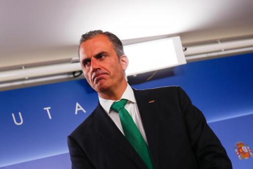 El secretario general de Vox, Javier Ortega Smith, durante una rueda.