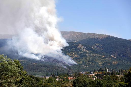 Un incendio declarado esta tarde en la provincia de Segovia está afectando a una zona de pinares próxima al Real Sitio de San Ildefonso-La Granja.