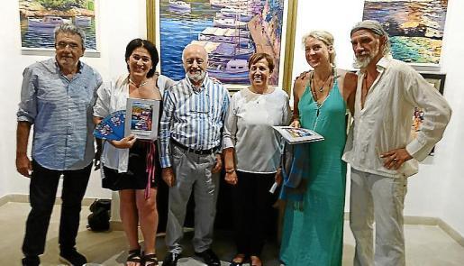 Tòfol Vidal, Nermin Goenenç, Miguel Reche, Maria Pons, alcaldesa de Santanyi; Bettina Rebecca y Román Hillmann.