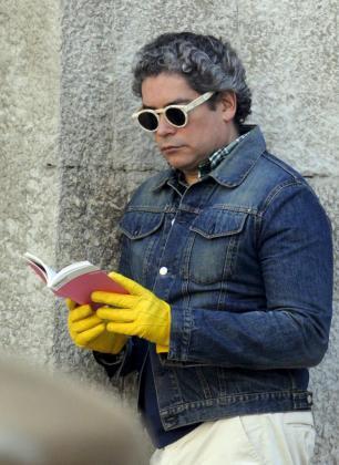 Boris Izaguirre, durante su paseo por Palma.