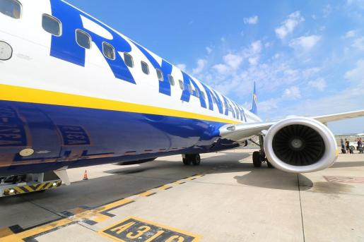 Imagen de un avión de la compañía Ryanair.