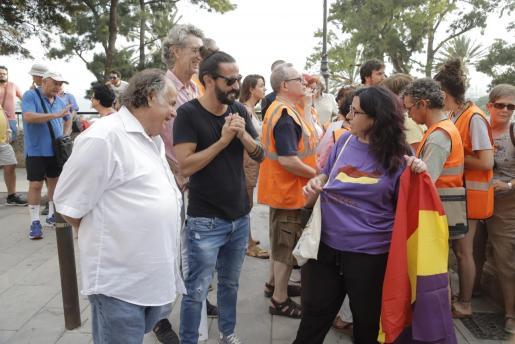 Baltasar Picornell en la concentración antimonárquica que tuvo lugar este miércoles frente a la Almudaina.