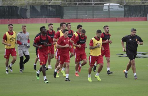 Un entrenamiento del Mallorca.