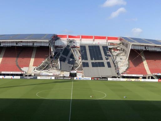 Imagen del estadio de la grada del estadio del AZ Alkmaar holandés.