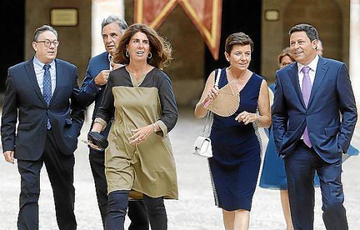 Josep Pons Fraga, Miquel Serra, Ángela Moreda, Carmen Serra y Óscar Mayol.