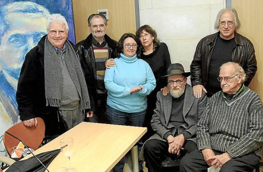 Joan Guasp, Jaume Mateu, Pilar Arnau, Margalida y Llorenç Capellá, Toni Serra y Jaume Adrover.
