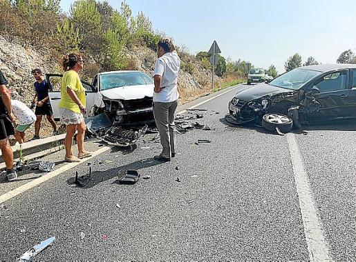 Imagen del accidente de tráfico ocurrido en Inca el pasado fin de semana.