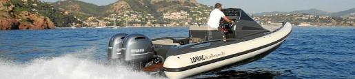 La Lomac 8.5 GT, una semirrígida de gran potencia y comodidad. Su precio, 700 euros al día.