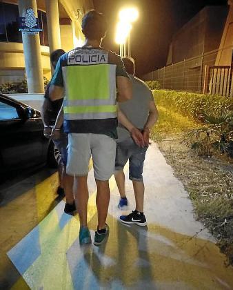 Una de las detenciones realizadas en la Playa de Palma en la pasada madrugada.