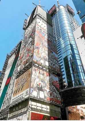 Parte de la instalación de Zapata en Times Square.