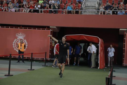 Vicente Moreno, en la presentación del equipo el pasado sábado en Son Moix.