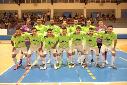 Formación del Palma Futsal que este viernes se enfrentó al Industrias Santa Coloma.