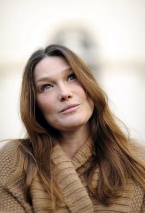La primera dama de Francia, Carla Bruni.