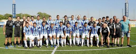 Presentación del Atlético Baleares, que este sábado disputó el Trofeu Nicolás Brondo.