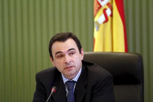 El director general de IB3, José Manuel Ruiz, en la rueda de prensa ofrecida hoy.