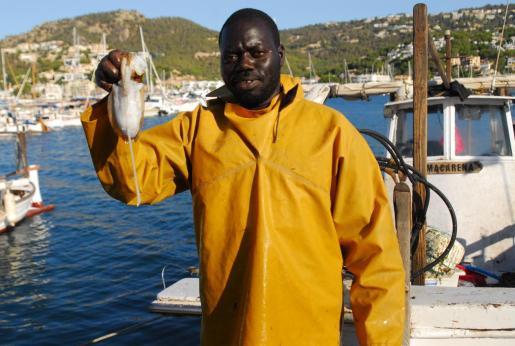 Bora faena en la embarcación Macarena del puerto de Andratx, el sábado capturó solo una sepia.