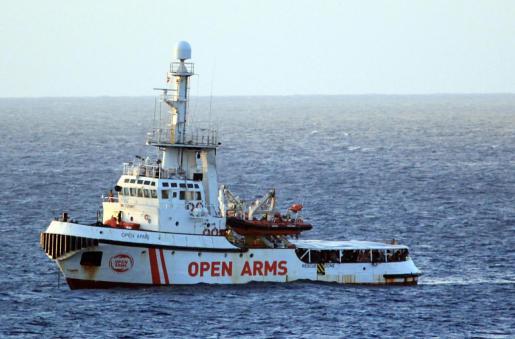 Vista del Open Arms.