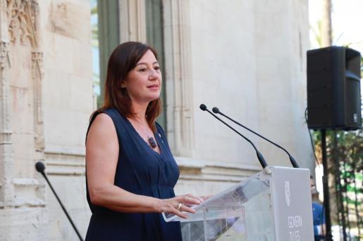 Francina Armengol confirmó que había mantenido conversaciones con la vicepresidenta del Gobierno sobre el Open Arms.