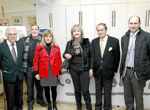 Joan Coll, Josep Obrador, Cati Ferrando, Isabel Cerdà, Josep María Balaguer y Felio Bauzà.