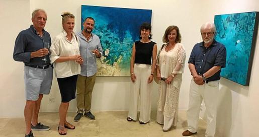 John Leaf, Samantha Leaf, Javier Barco, Cati Bennàssar, Sofia Barco y Toni Dionís.
