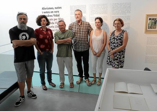 Max, Enriqueta Llorca, Pere Joan, Juan Roig, Margalida Vinyes y Karen Müller en es Baluard.