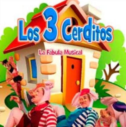Fábula musical 'Los tres cerditos'.