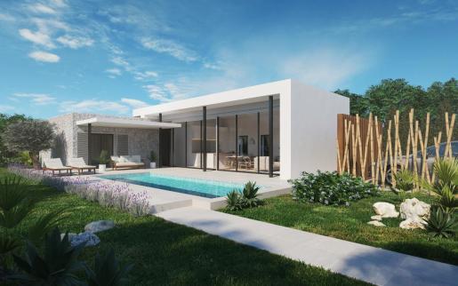 El bungalow que comercializa Azur Mallorca está situado prácticamente junto al mar.