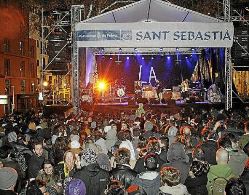 Imagen de un concierto de las fiestas de Sant Sebastià.