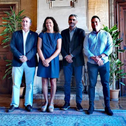 Carlos Simarro, Catalina Cladera, Josep Lluís Pons y Carlos Darder, este jueves en el Consell.