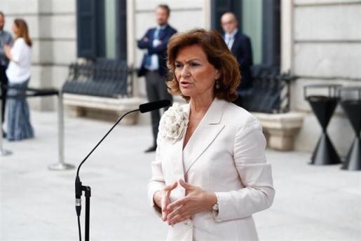 Imagen de la vicepresidenta del Gobierno en funciones, Carmen Calvo.