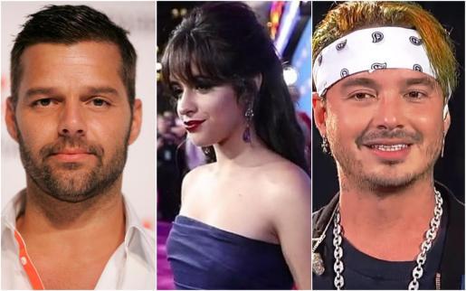 Ricky Martin, Camila Cabello y J. Balvin.