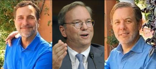 James Costos, Eric Schmidt y Michael Smith.