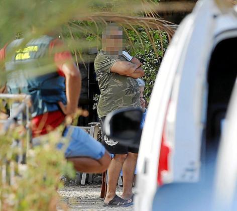 El libanés detenido, el miércoles, en la finca de Lloseta.