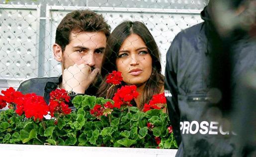 Foto de archivo del portero del Real Madrid, Iker Casillas, y la periodista Sara Carbonero en el Masters 1.000 de Madrid.