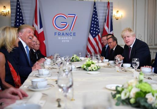 Imagen de los miembros del G7 reunidos en Francia.