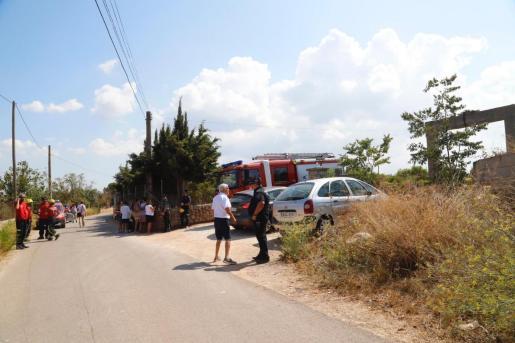 Un importante dispositivo ha tomado la zona donde han caído los restos de las aeronaves siniestradas.