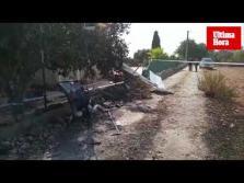 Restos de las dos aeronaves que chocaron en Mallorca