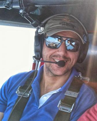 Imagen de Juanjo Vidal, el piloto del ultraligero.