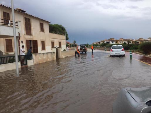 Imagen del temporal que azotó Mallorca el pasado martes.