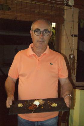 José Jacinto Ortega presenta su receta: Calabaza y zanahoria caramelizada, cristales de azúcar, helado de Oli de Mallorca y crujiente de limón.