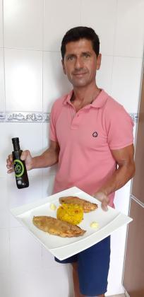 Pedro Antonio presenta su receta: Raones rellenos de gamba roja de Sóller y allioli de azafrán con arroz seco marinero.