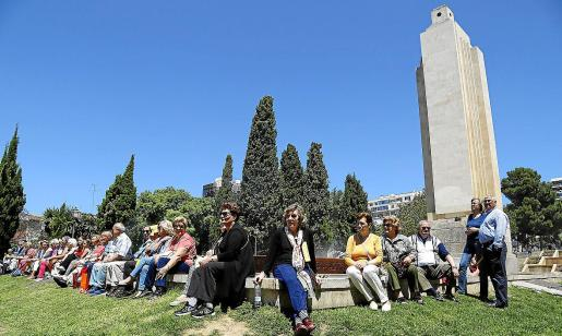 Imagen de archivo de uno de los actos celebrados en defensa del monumento de sa Feixina.