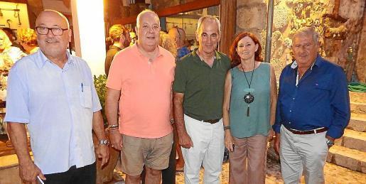 Joan Antoni Castañer, Federico Price, Francisco Peñuela, Maria José Ros y Joan Albertí.