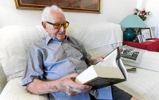 Vicent Juan Ferrer, en una imagen del reportaje de su centenario en Periódico de Ibiza y Formentera
