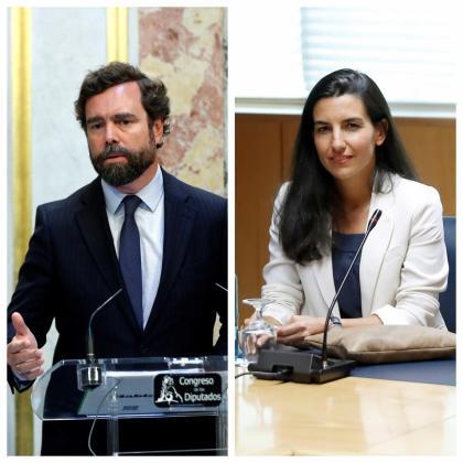 Imágenes de los portavoces de Vox en el Congreso y en la Asamblea de Madrid.