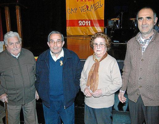 Mateu Orpí, Pere Orpí, Josefa Joan y Pep Terrassa.